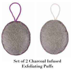 The Bathery Charcoal-Infused Exfoliating Puffs- 2
